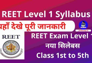 REET Level 2 Syllabus 2021