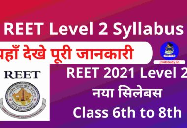 REET Level 2 Syllabus 2021 PDF in Hindi नया सिलेबस- Class 6th to 8th