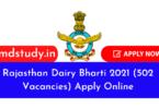 Rajasthan Dairy Bharti 2021 (502 Vacancies) Apply Online