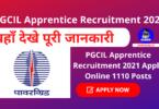 PGCIL Apprentice Recruitment 2021 Apply Online 1110 Posts